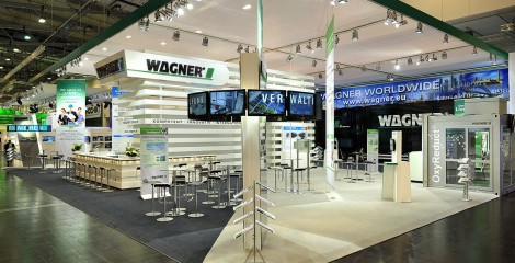 Messestand Wagner Videoinstallation