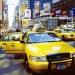 New York Taxi am Times Square