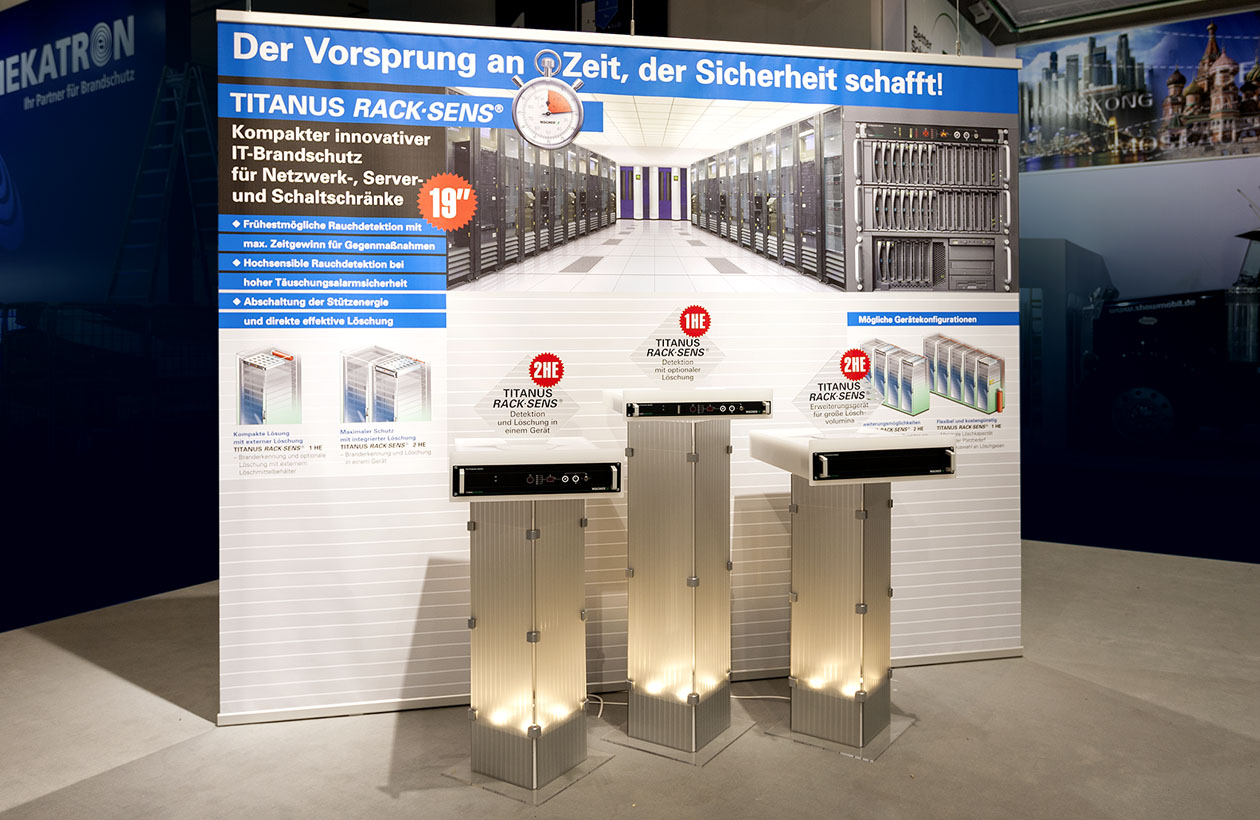 Messestand Wagner Group, Produktpräsentation